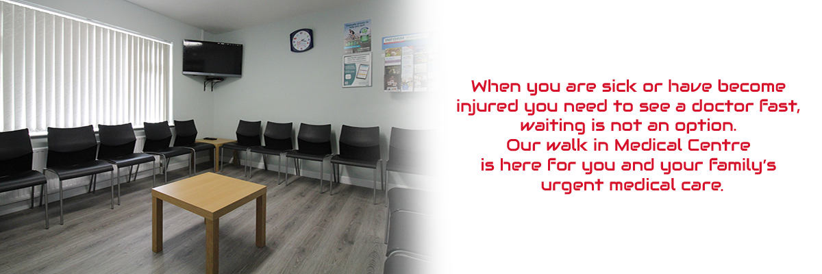 doctor's waiting room at emergency